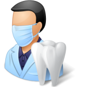 animated Male Dentist with large tooth